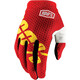 100% iTrack Gloves fire red II